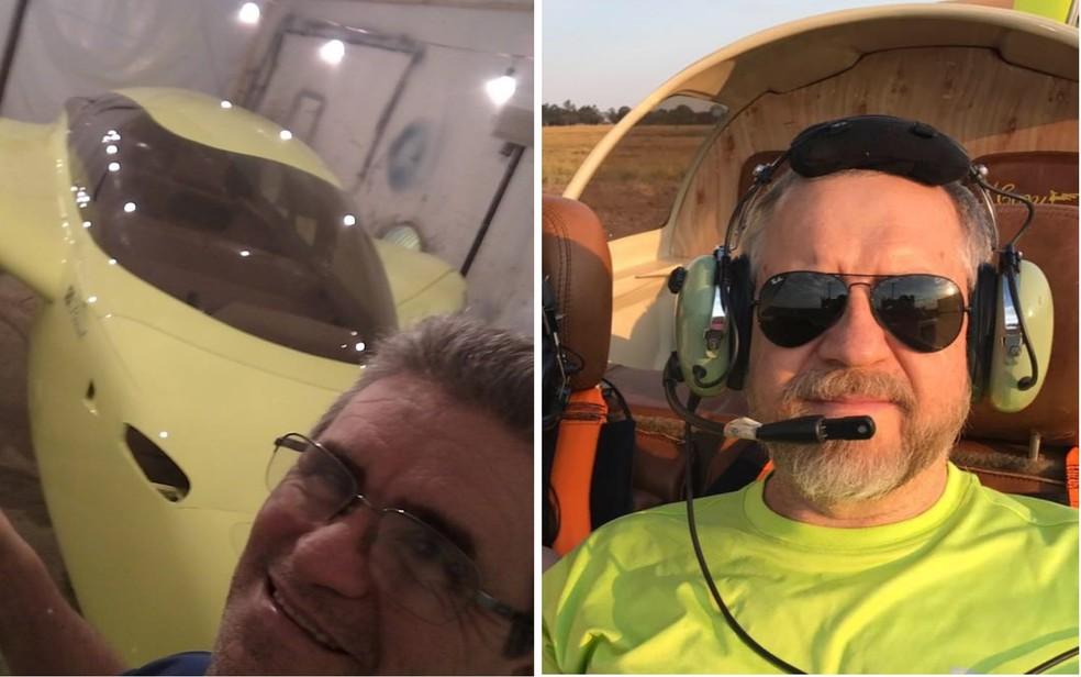 Documentos de Amador Antônio de Oliveira e Paulo Roberto Maciel Maia foram encontrados nos destroços do avião, segundo os bombeiros, Rio Verde, Goiás — Foto: Reprodução/TV Anhanguera