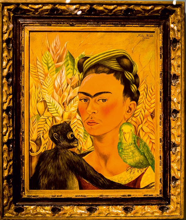 Frida Kahlo ´Self-portrait with monkey and parrot´, 1942, MALBA, Museum of Latin American Art, Buenos Aires, Argentina. (Foto: © Bjanka Kadic)