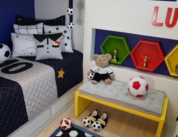 Detalhes da decoração do quarto de Davi Lucca (Foto: Divulgação/Grão de Gente)
