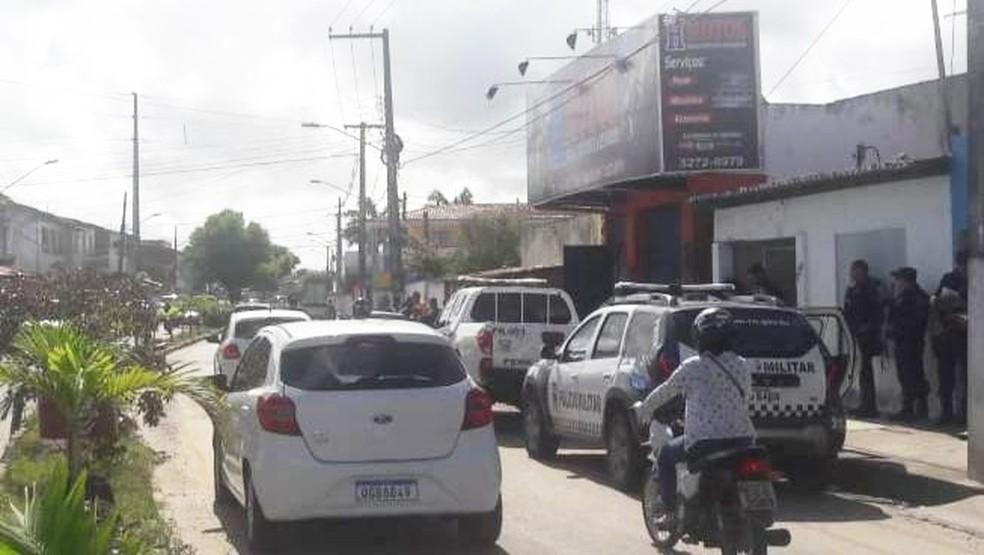 Oficina fica na Rua Dr. Mário Negócio, no bairro Vale do Sol — Foto:  Ednaldo Lima/Inter TV Cabugi