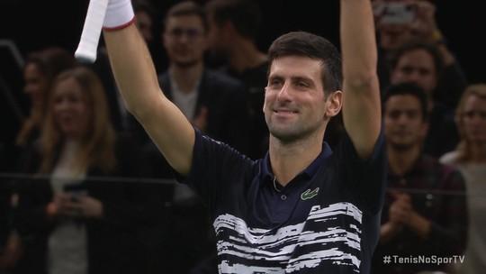 Os pontos finais de Djokovic 2 x 0 Shapovalov pela final do Masters 1000 de Paris
