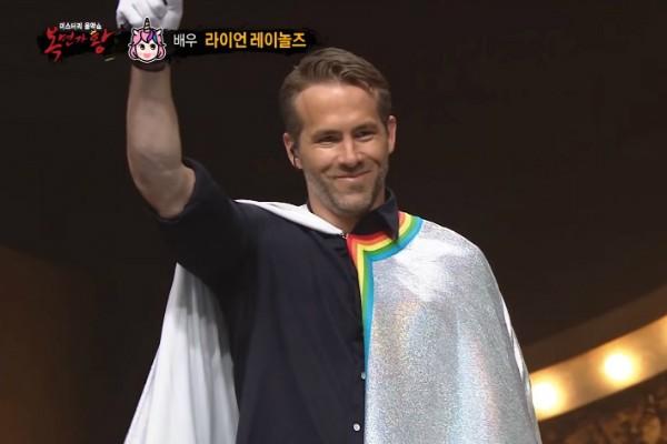 Ryan Reynolds em programa de TV da Coreia  (Foto: Reprodução Youtube)
