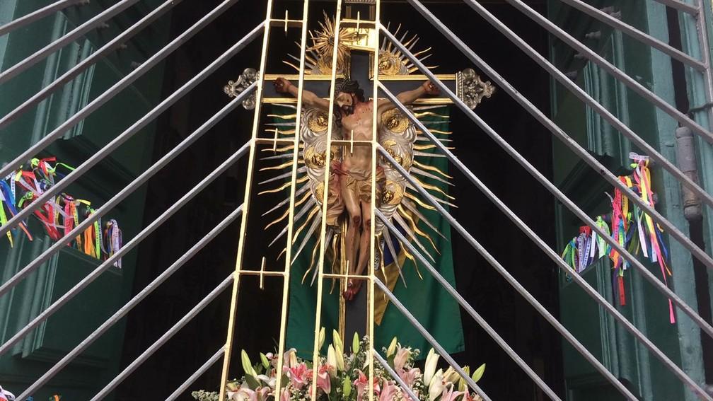 Imagem de Nosso Senhor do Bonfim (Foto: Andréa Silva/TV Bahia)