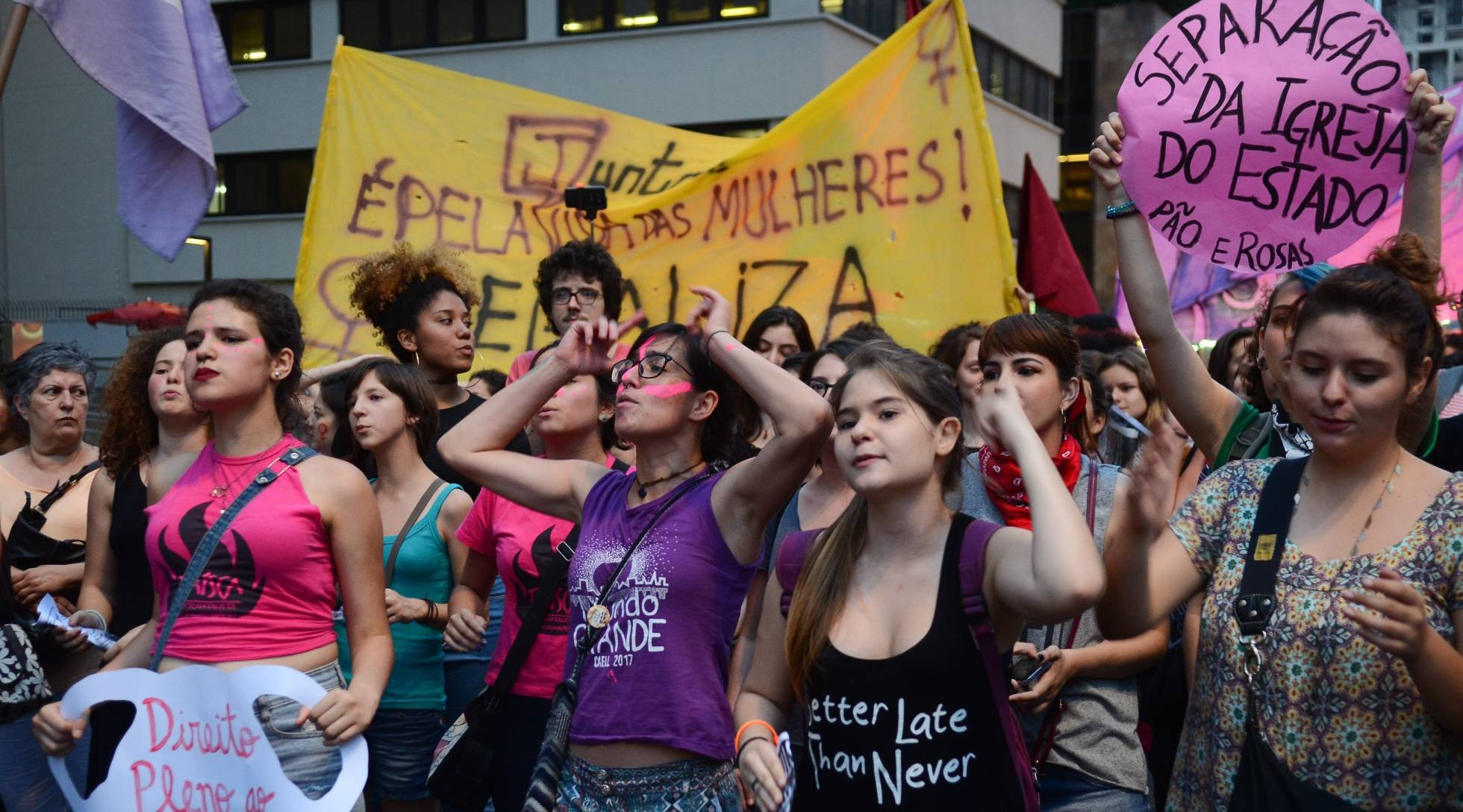 Manifestação liderada por mulheres em 2016 (Foto: Rovena Rosa/ Agência Brasil)
