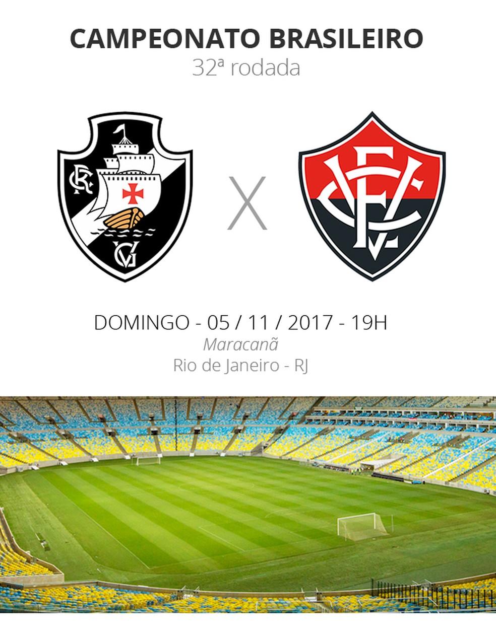 FICHA dos jogos Vasco x Vitória (Foto: Infoesporte)