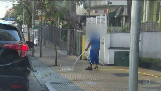 SP multa quem for flagrado lavando calçada ou quintal com água potável