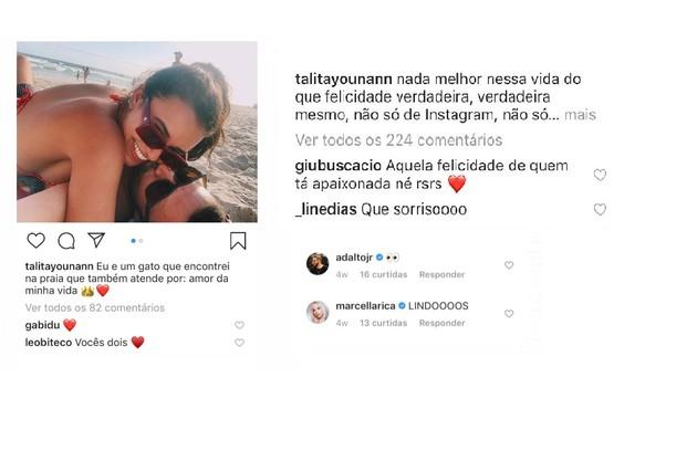 Comentários de Gabriela Duarte, Marcella Rica e mais famosos nas fotos da atriz (Foto: Talita Younan)