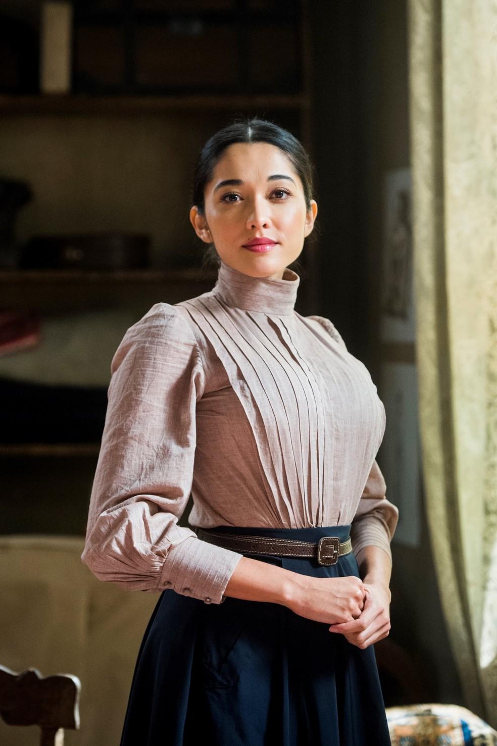 Mariko é uma médica japonesa que está sempre disposta a ajudar  (Foto: Raquel Cunha/ TV Globo)