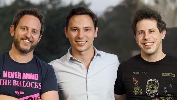 Eduardo Wexler, Fabien Mendez e Arthur Debert, da Loggi (Foto: Divulgação)