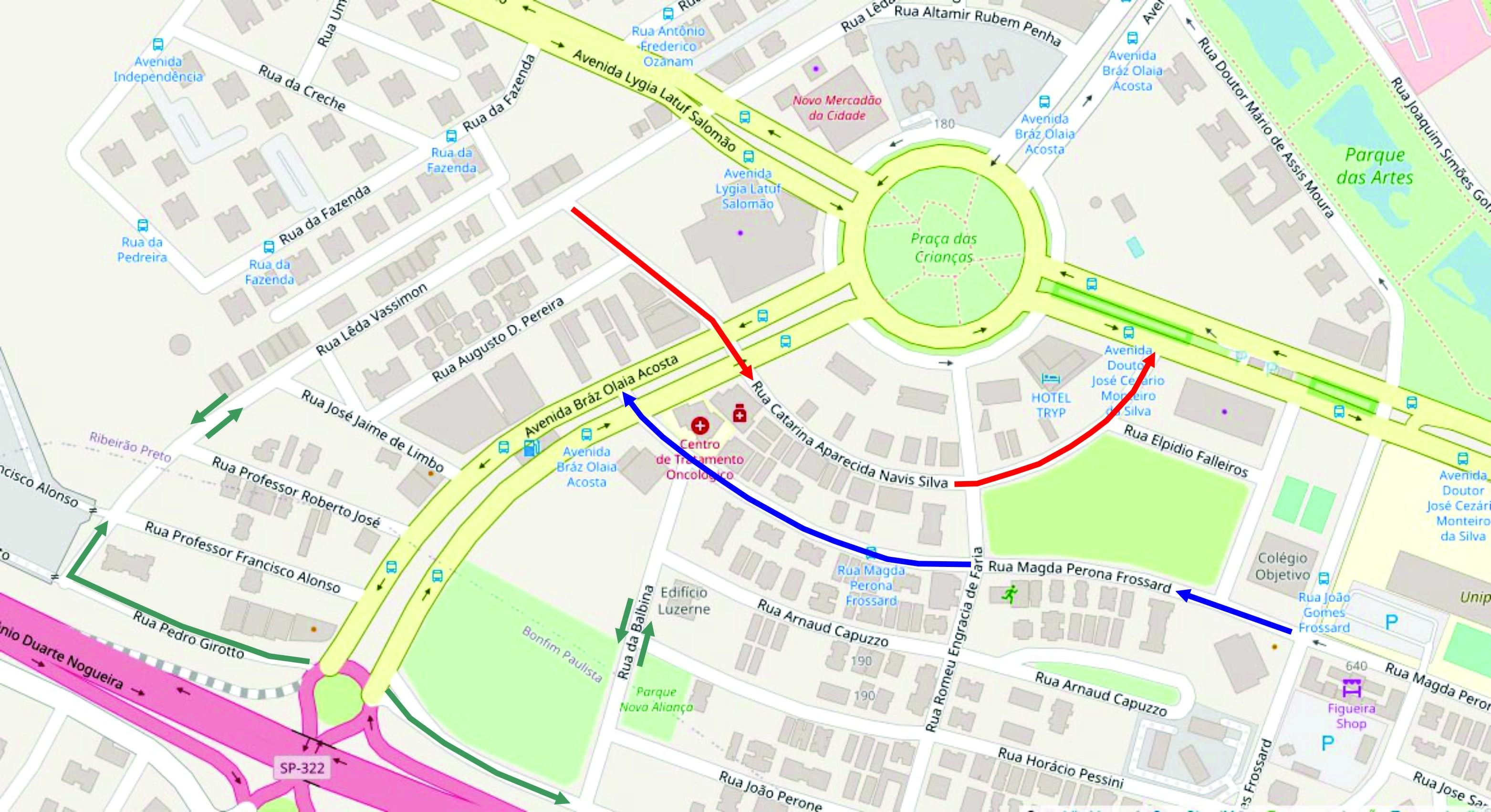 Transerp altera sentido de ruas do Jardim Nova Aliança em Ribeirão Preto, SP; veja o mapa