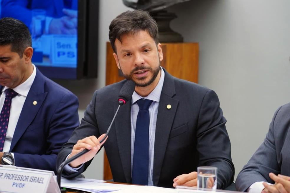 Deputado federal Israel Batista (PV-DF) é o novo presidente da Frente Parlamentar Mista da Educação. — Foto: Pablo Valadares/Câmara dos Deputados