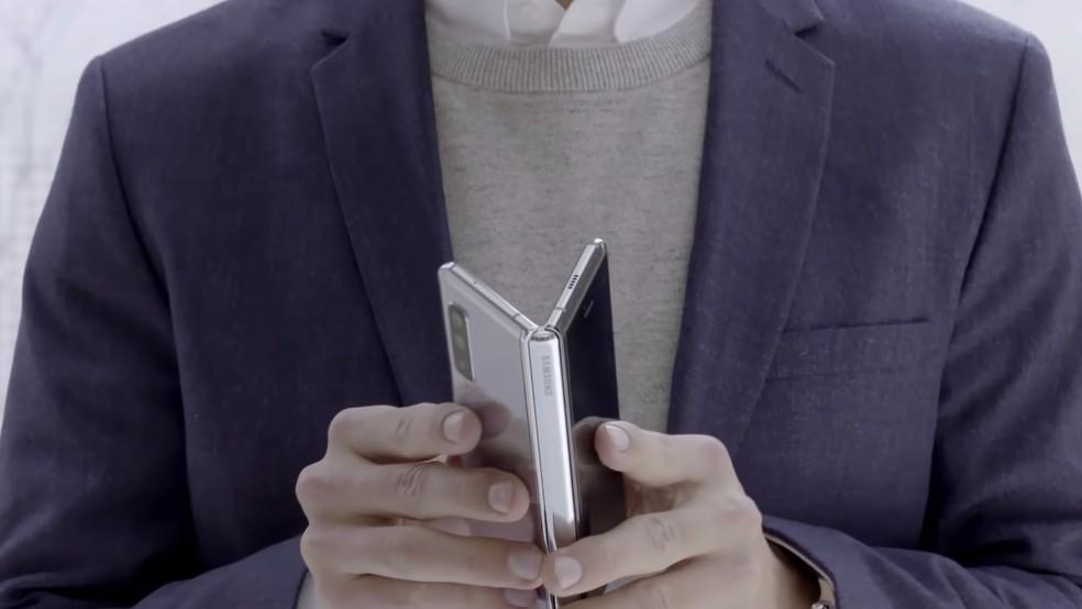 Estrutura dobrável do Galaxy Fold â?? Foto: Divulgação / Samsung