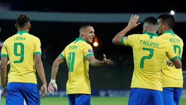 Matheus Cunha, Antony, Paulinho e Reinier, o quarteto ofensivo do Brasil contra a Bolívia