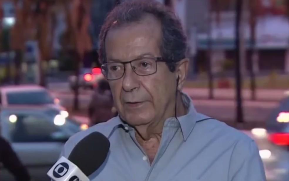 Secretário Dolzonan Mattos fala sobre obras da avenida 136 em Goiânia — Foto: Reprodução/TV Anhanguera