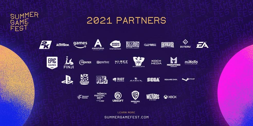 PlayStation, Xbox, Ubisoft, Square Enix e muitas outras marcas se juntaram ao Summer Game Fest em 2021 — Foto: Divulgação/Summer Game Fest