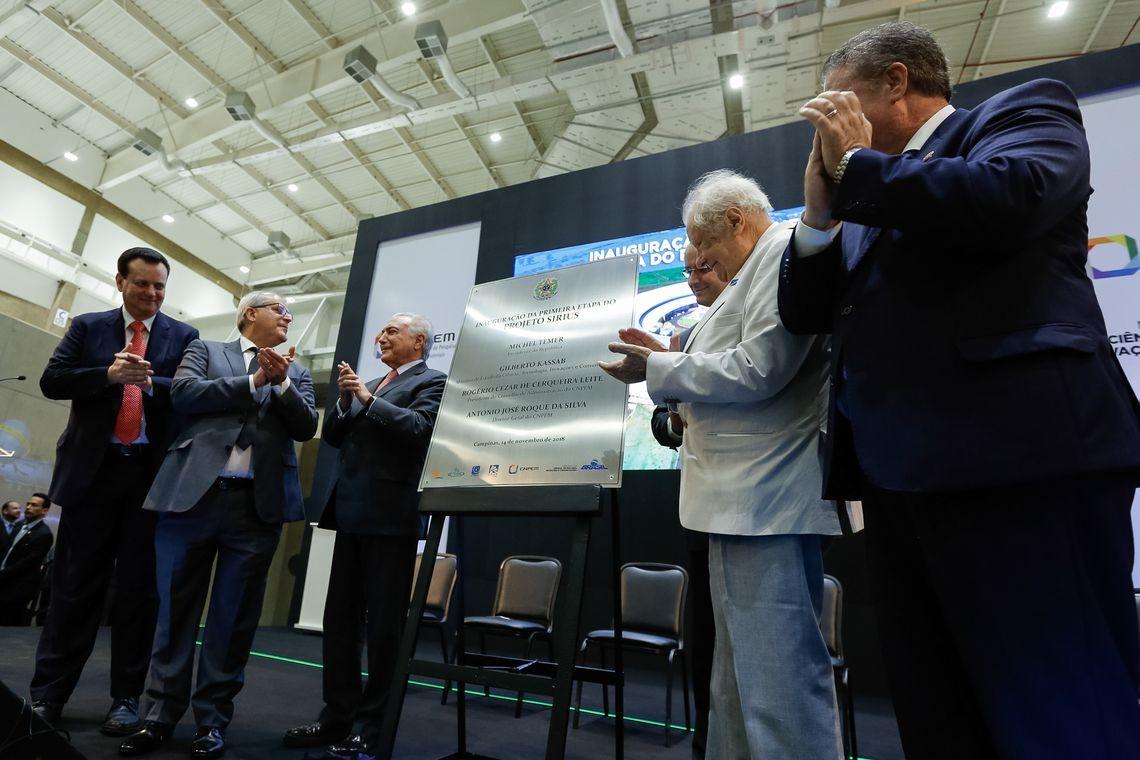 Michel Temer inaugura a primeira fase de construção do Sirius (Foto: Agência Brasil)