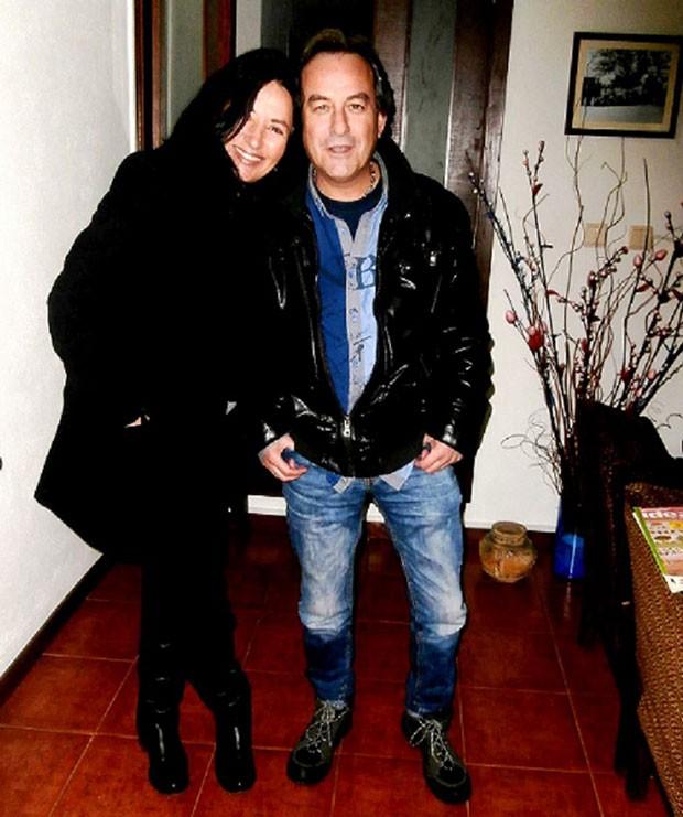 Vana Lopes e o então marido Jorge (Foto: Arquivo pessoal)