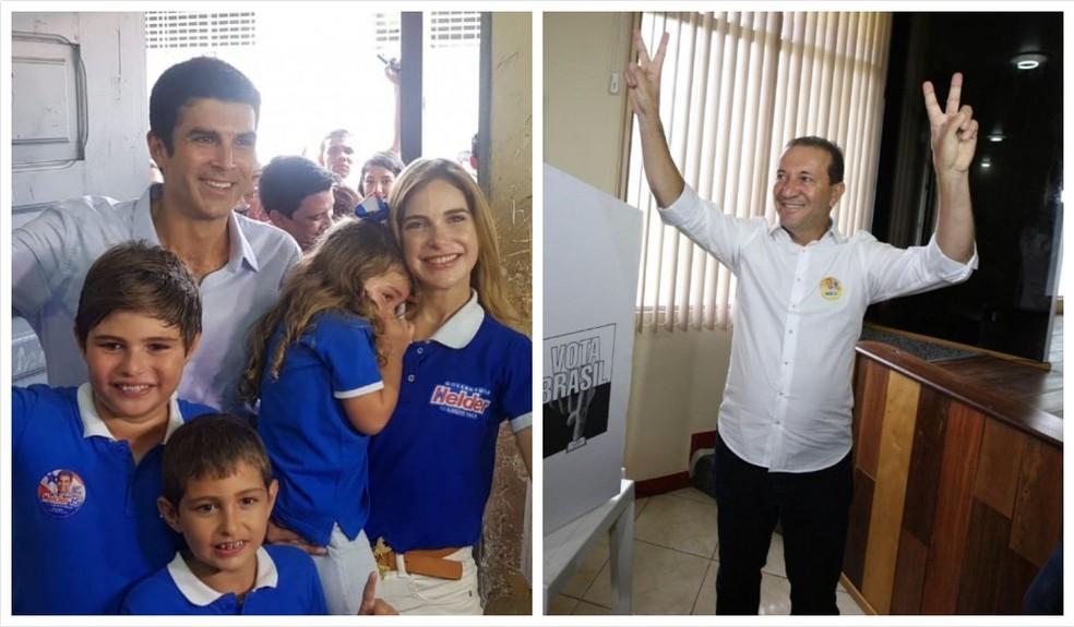 Helder Barbalho, do MDB, e Márcio Miranda, do DEM, vão disputar o segundo turno no PA — Foto: Arte e fotos: G1 Pará