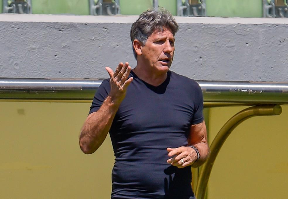 Renato valorizou a reação em goleada — Foto: Douglas Magno/BP Filmes