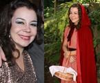 Bel Lobo em dois momentos: atualmente e na sua última aparição na Globo, em 2007, como Chapeuzinho Vermelho | Divulgação