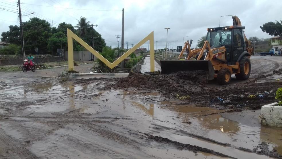 Prefeito da cidade de Milagres decretou situação de emergência após chuvas fortes — Foto: Neto Cabral/ Arquivo Pessoal