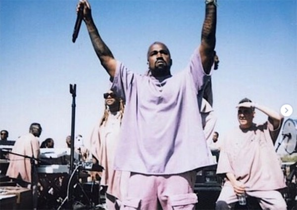 Kanye West no Coachella 2019 (Foto: Instagram)