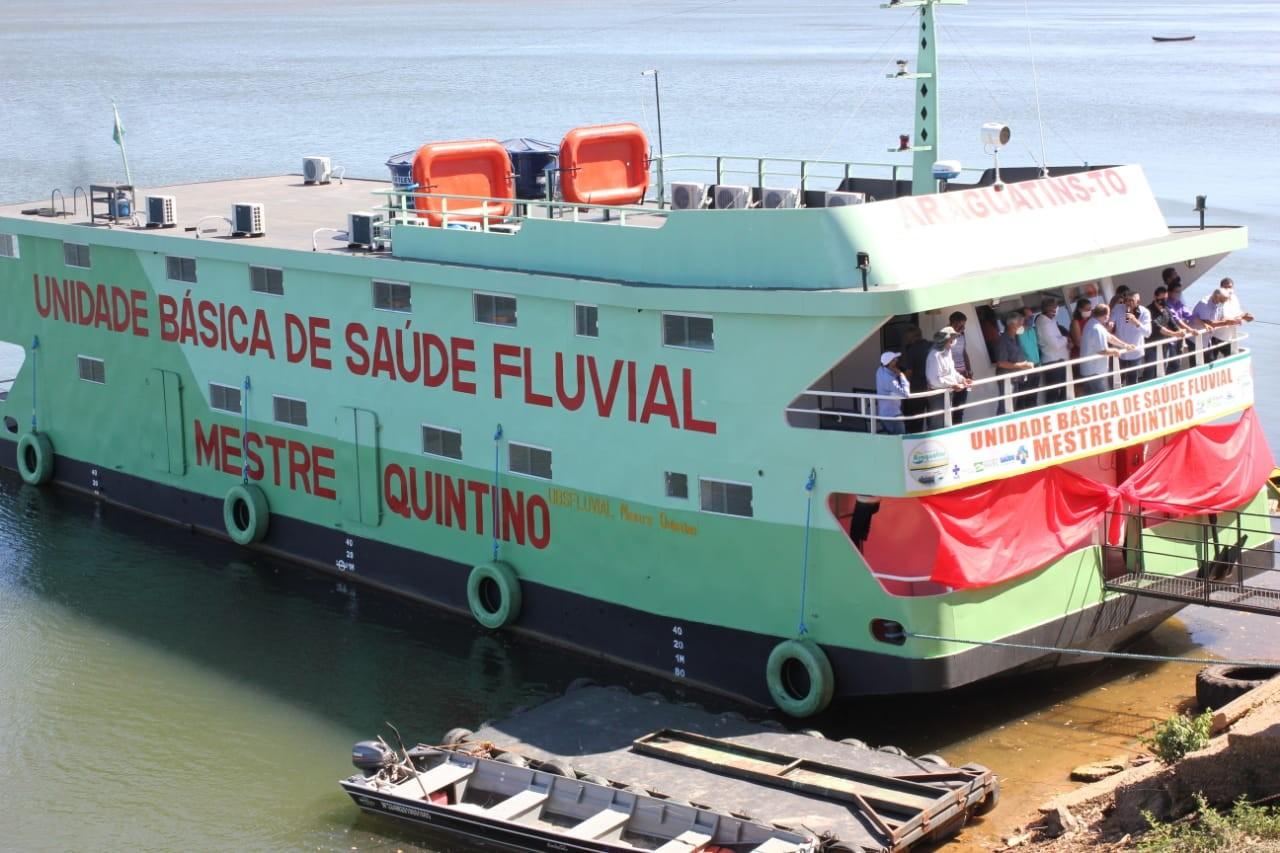 Unidade de saúde fluvial de Araguatins vai percorrer 250 km por mês atendendo ribeirinhos e quilombolas