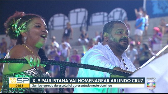 Filho faz 'live' para Arlindo Cruz assistir gravação de samba da X-9 Paulistana
