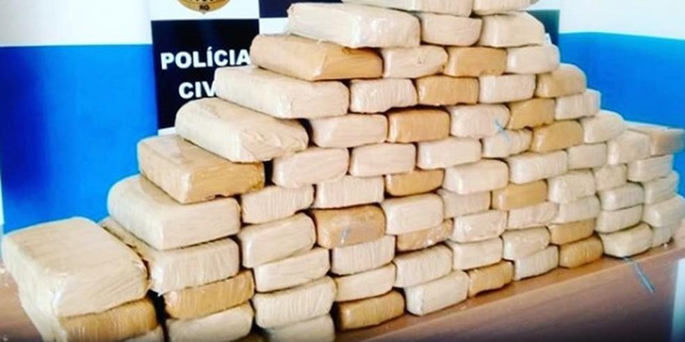 Cerca de 80 kg de drogas foram apreendidas em Alto Alegre dos Parecis.  — Foto: Divulgação/Polícia Civil