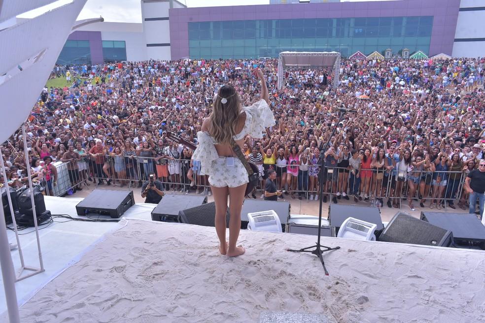 Claudia Leitte fez show no novo Centro de Convenções de Salvador antes da pandemia — Foto: Enaldo Pinto/Aghaack