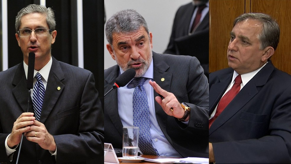 Rogério Rosso, Laerte Bessa e Izalci Lucas devem votar a favor do presidente Michel Temer nesta quarta (2) (Foto: Reprodução)