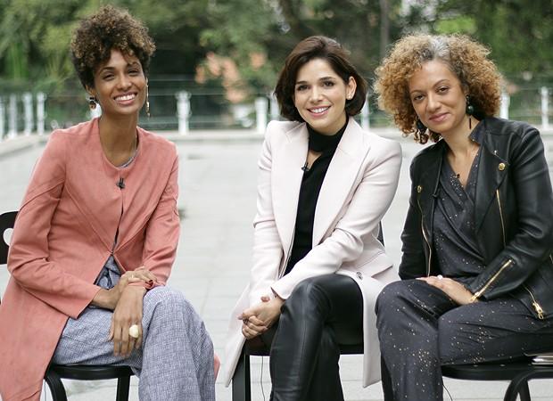 Stephanie Ribeiro, Sabrina Petraglia e Adriana Ferreira Silva (Foto: Cristiane Senna)