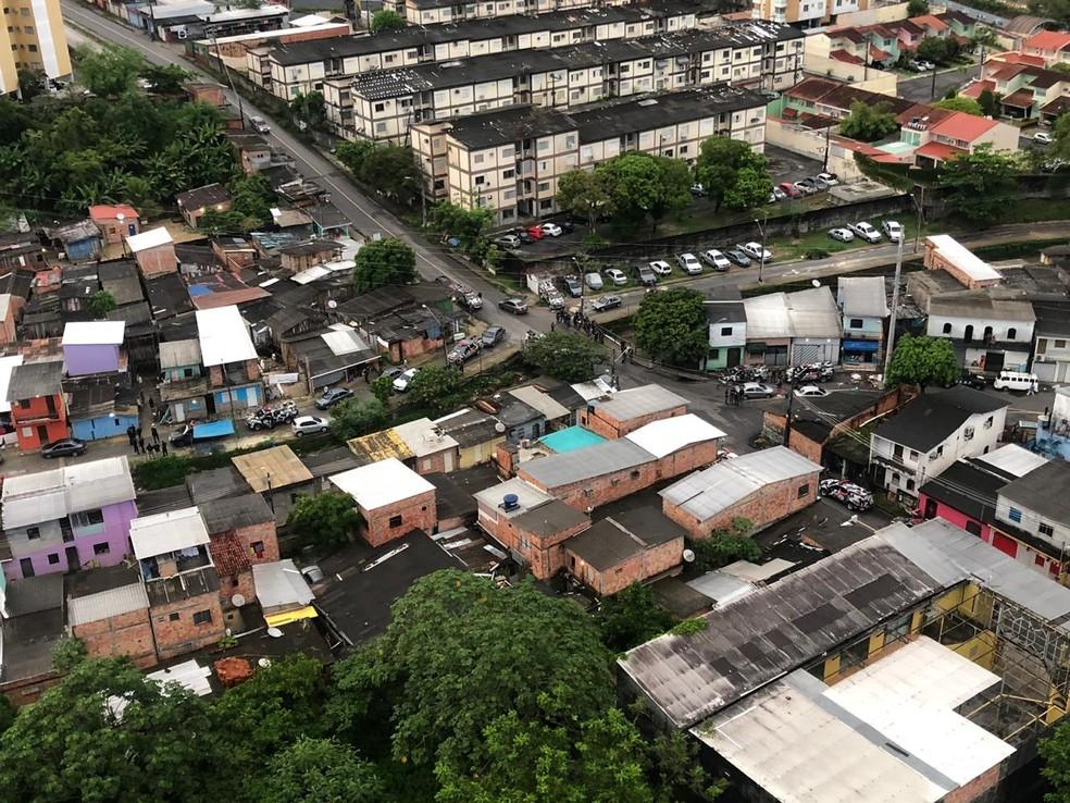 Bairro da União, em Manaus — Foto: Divulgação/SSP-AM