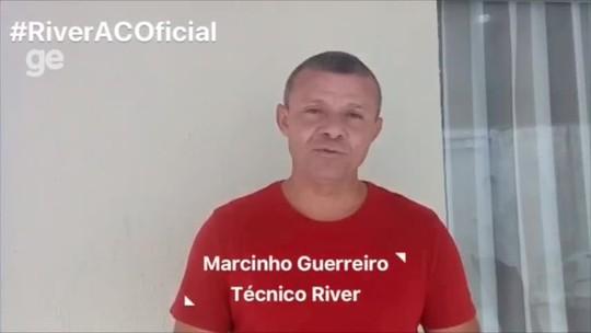 """Em vídeo, Marcinho manda recado antes de apresentação: """"Conto com a torcida para esse acesso"""""""