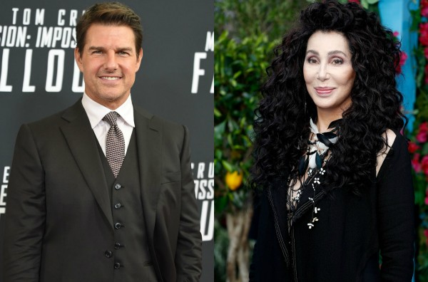 Tom Cruise e Cher (Foto: Getty Images)