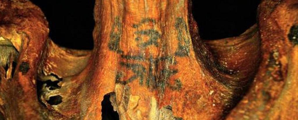 Detalhe das tatuagens de múmia (Foto: Divulgação)