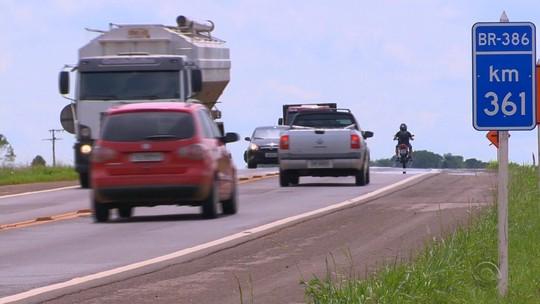 Com 522 mortes em 7 anos, BR-386 é a rodovia mais perigosa do RS