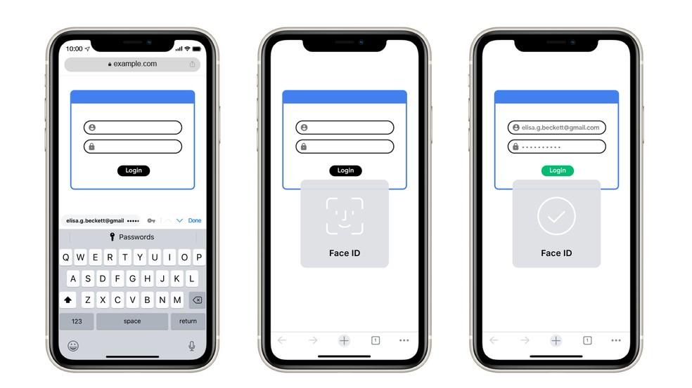 Chrome no iPhone pode pedir Touch ID ou Face ID para exibir senhas salvas no navegador — Foto: Divulgação/Google
