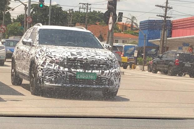 Flagra: Volkswagen Nivus (Foto: Ronaldo Amancio)