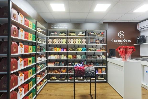 Loja contêiner da Cacau Show tem foco em ampliar a gama de serviços da marca, além dos produtos (Foto: Divulgação)