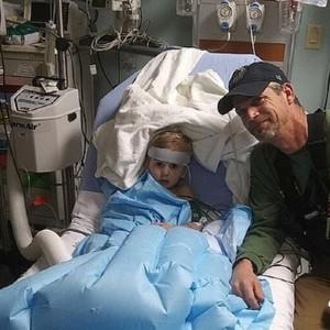 Casey, 3, apesar de desidratado, recuperou-se bem (Foto: mummypages)