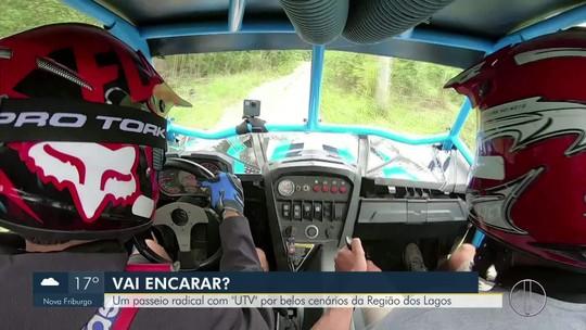 """""""Vai Encarar?"""" desbrava diferentes terrenos da Região dos Lagos do Rio pilotando um UTV"""