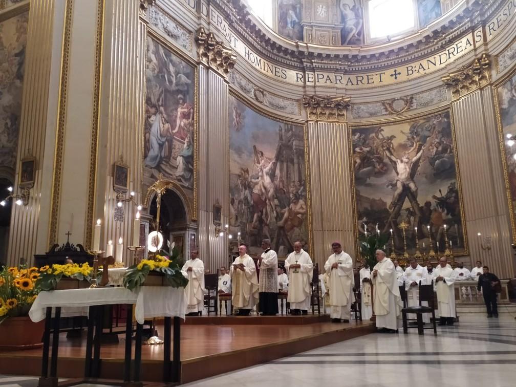 Irmã Dulce foi canonizada pelo papa Francisco, em cerimônia realizada no domingo (13), no Vaticano — Foto: Maiana Belo/G1 Bahia