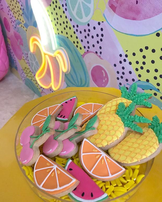 Cookies em formato de frutas (Foto: Reprodução / Instagram @DesignPlanPlay)