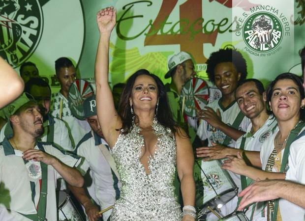 Viviane Araújo - Mancha Verde (Foto: AgNews)