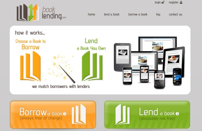 Book Lending é uma plataforma de empréstimo de livros digitais (Foto: Reprodução/Book Lending)