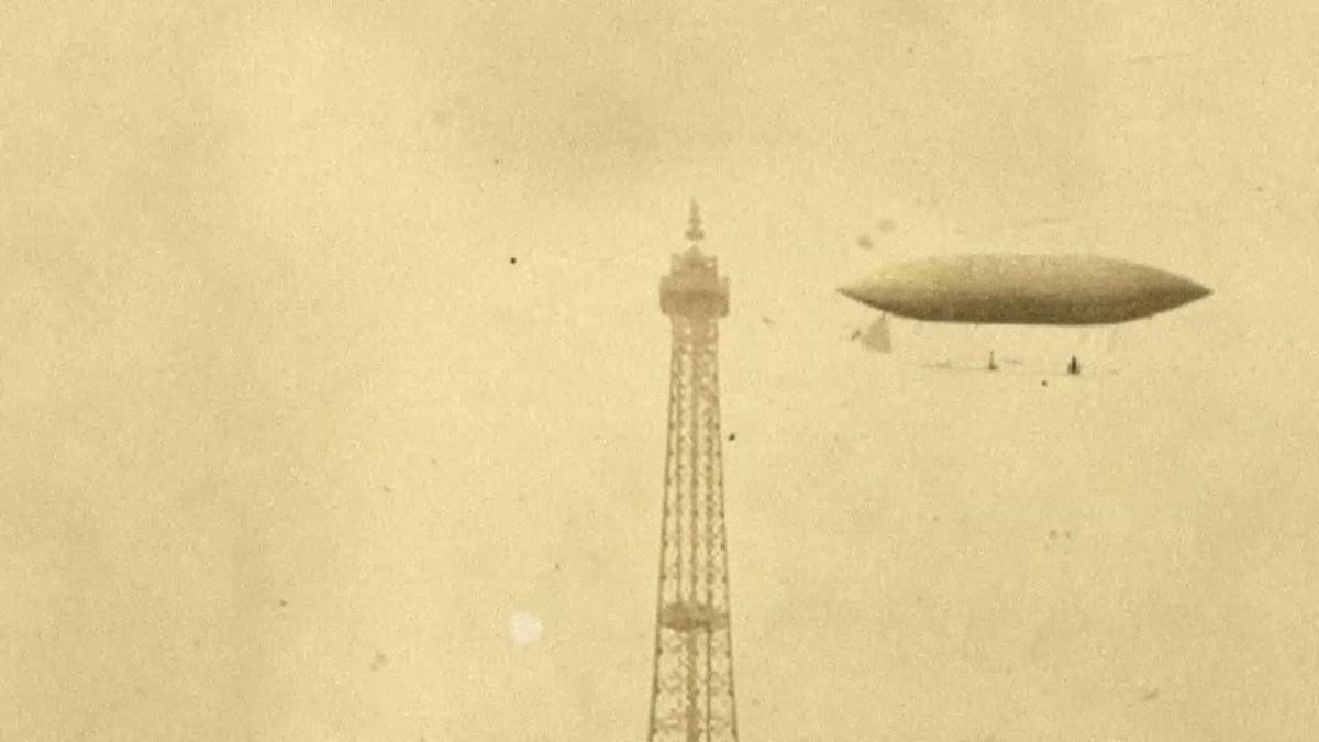 Voo de Santos Dumont ao redor da Torre Eiffel faz 116 anos; vídeo recria façanha