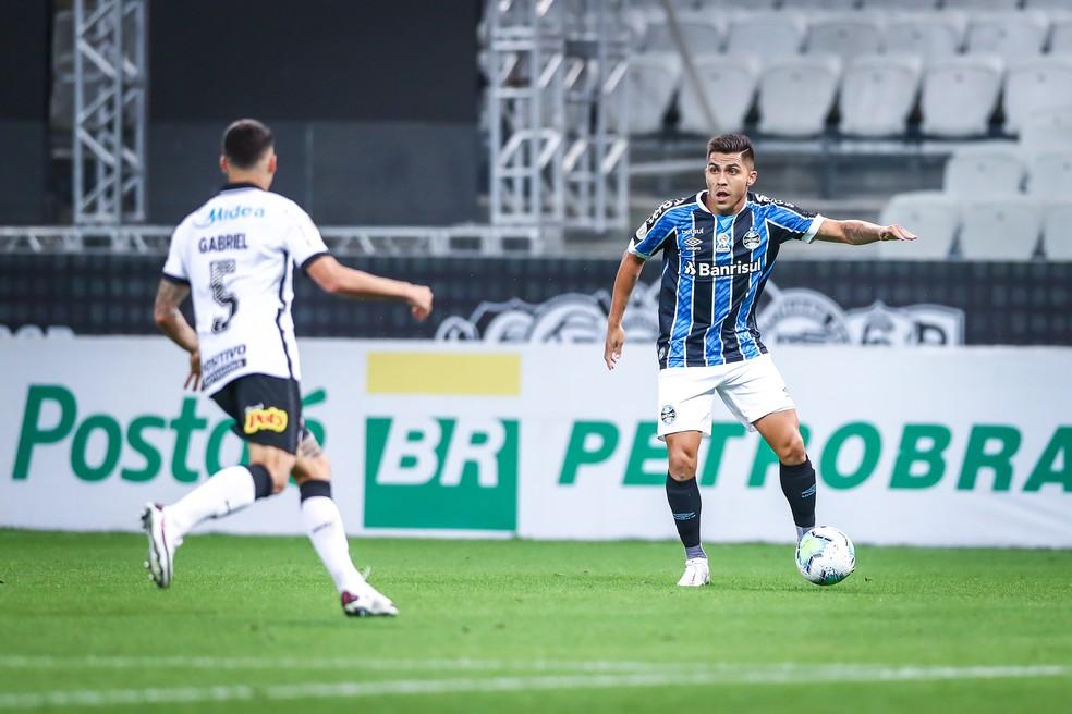 Pinares em Grêmio 0x0 Corinthians pelo Brasileirão  — Foto: Lucas Uebel/DVG/Grêmio
