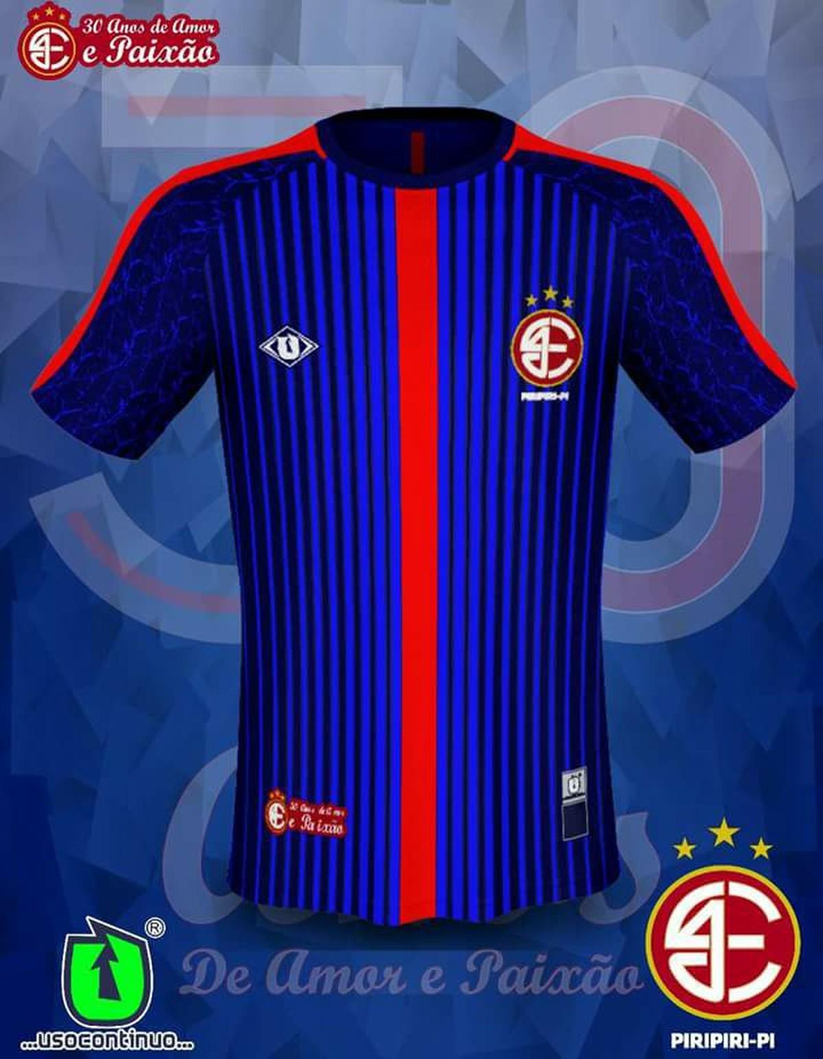 Novo manto  4 de Julho lança 3º uniforme azul marinho para a Copa Piauí.  Veja  e42852903b558