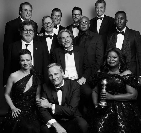 O cineasta Peter Farrelly junto com os atores e produtores de Green Book: O Guia (Foto: Instagram)